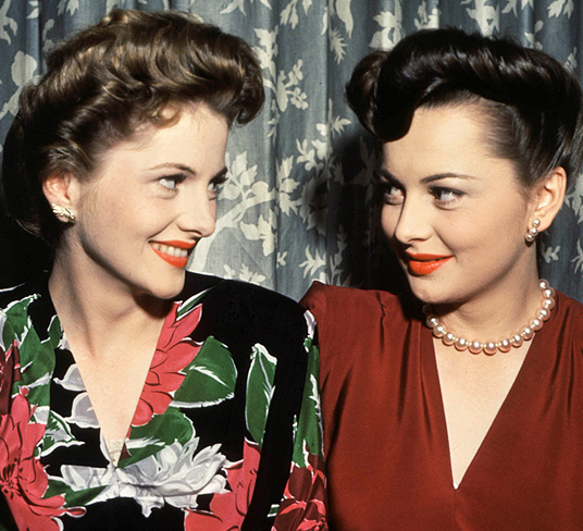 JOAN FONTAINE & OLIVIA DE HAVILLAND