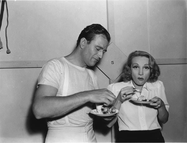 John Wayne & Marlene Dietrich