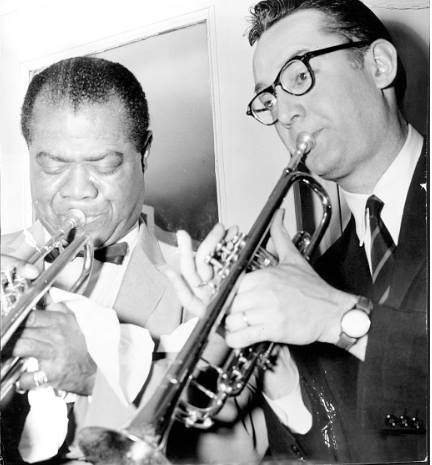 Louis Armstrong and Steve Allen