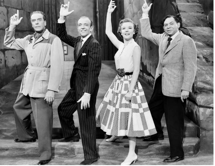 Jack Buchanan, Fred Astaire, Nanette Fabray, and Oscar Levant