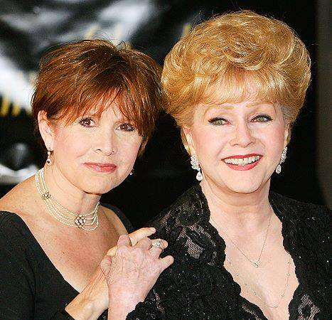 DEBBIE REYNOLDS with her daughter Carrie in 2007