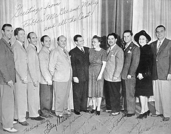 Best wishes for a wonderful new year from the cast of Fibber McGee and Molly