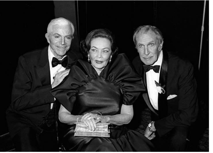 Dana Andrews, Gene Tierney, and Vincent Price