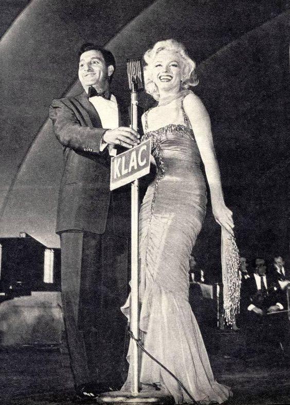 Danny Thomas and Marilyn Monroe