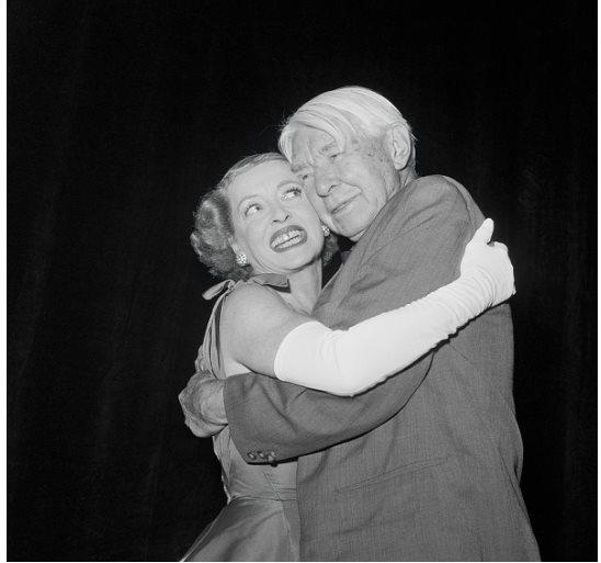 Bette Davis and Poet Carl Sandburg