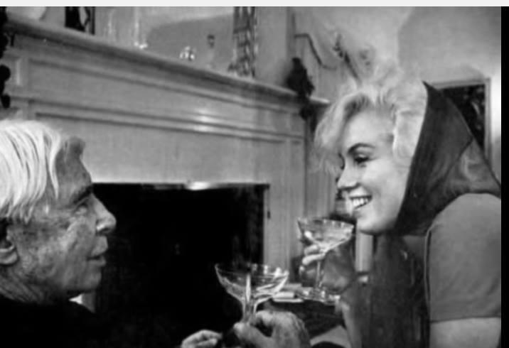 Carl Sandburg & Marilyn Monroe