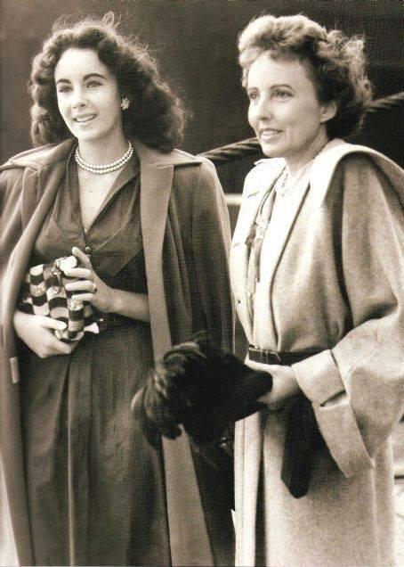 Elizabeth Taylor and her mother Sara Sothern -1940s.