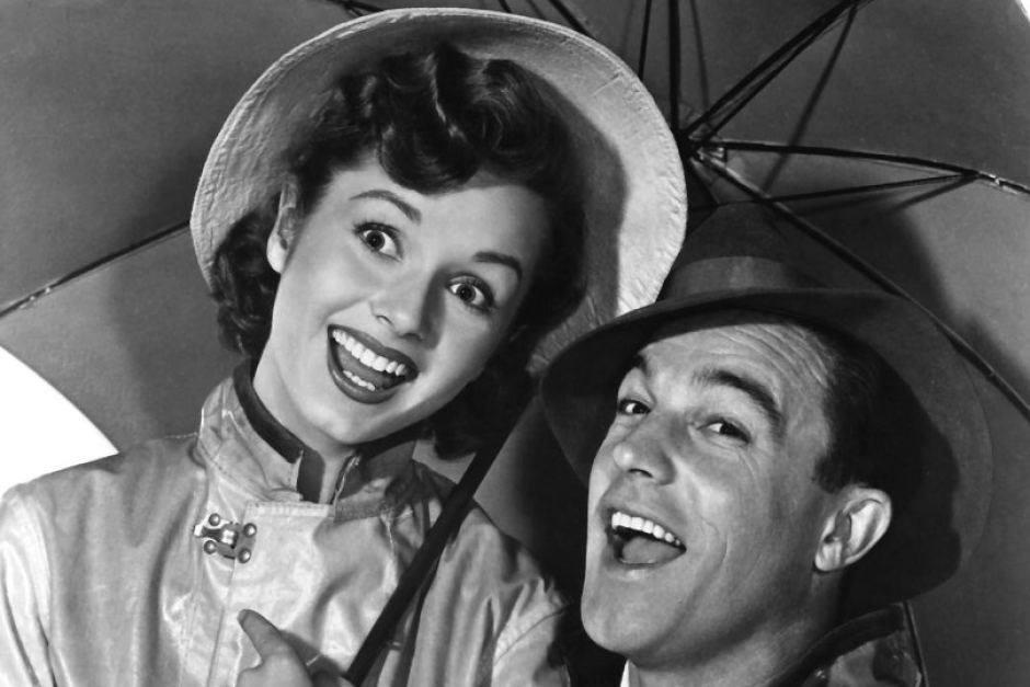 Debbie Reynolds and Gene Kelly