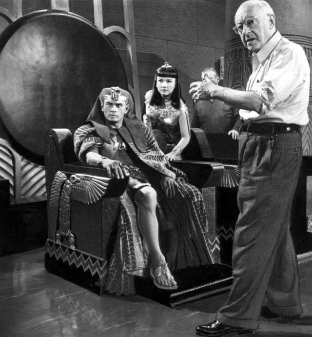 Yul Brynner and Anne Baxter with Cecil B