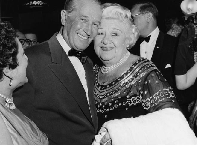 Maurice Chevalier and Sophie Tucker, attending the Foreign Press Awards, Hollywood
