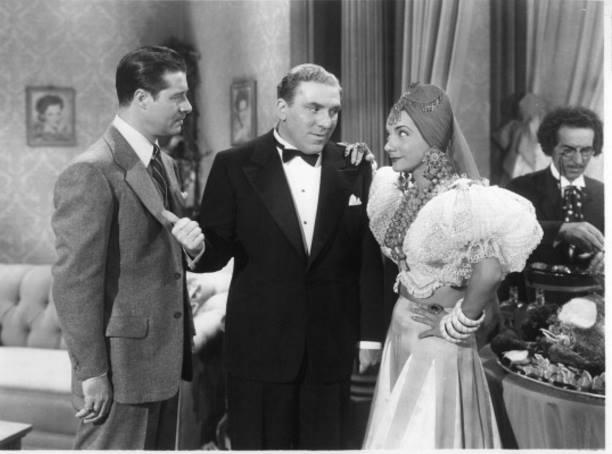 Don Ameche, William Bendix, and Carmen Miranda