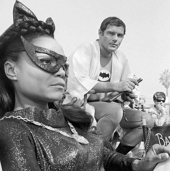 Eartha Kitt (Catwoman) and Adam West (Batman)