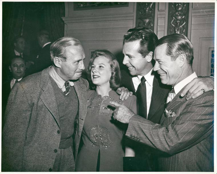 Jack Benny, June Allyson, Dick Powell and Joe E. Brown