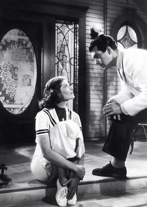 Katharine Hepburn and Fred MacMurray