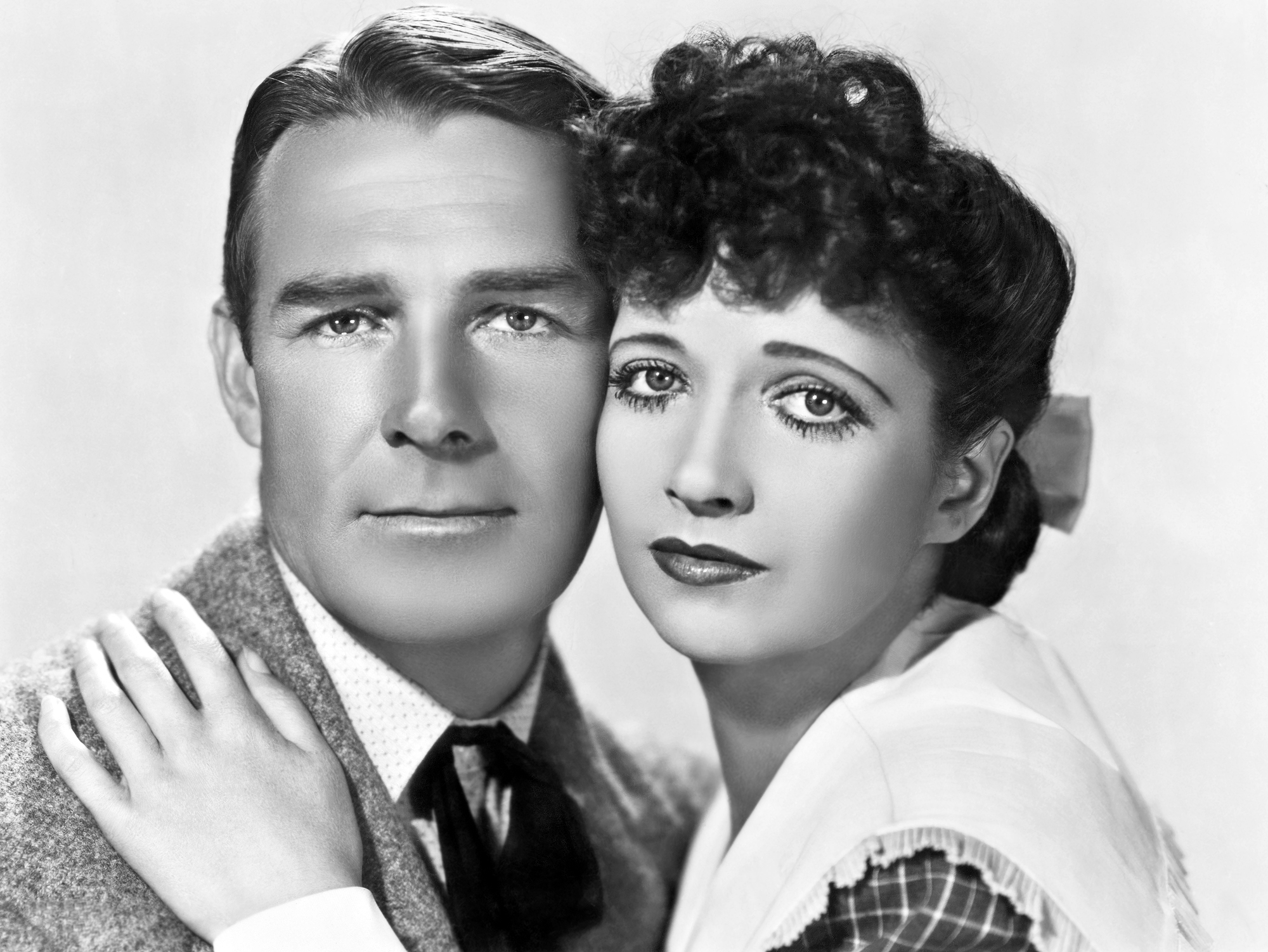 Randolph Scott With Verna Hillie.