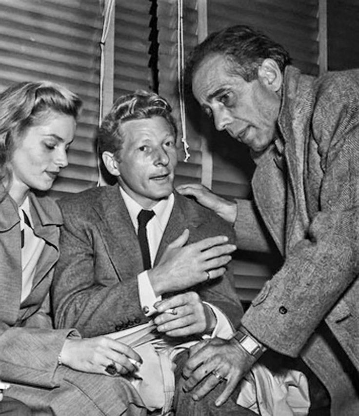 Lauren Bacall, Danny Kaye and Humphrey Bogart