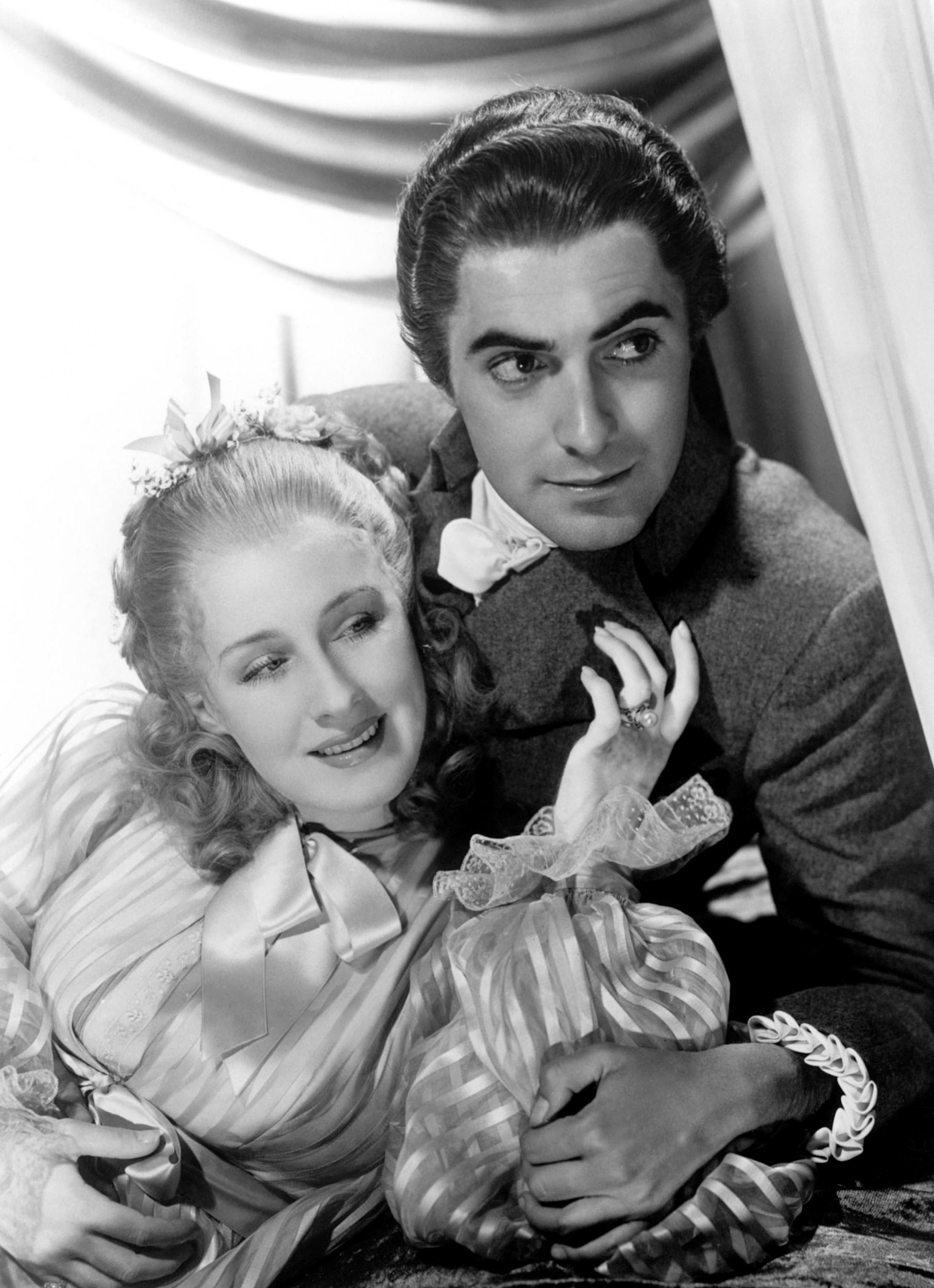 Norma Shearer With Tyrone Power, Jr.