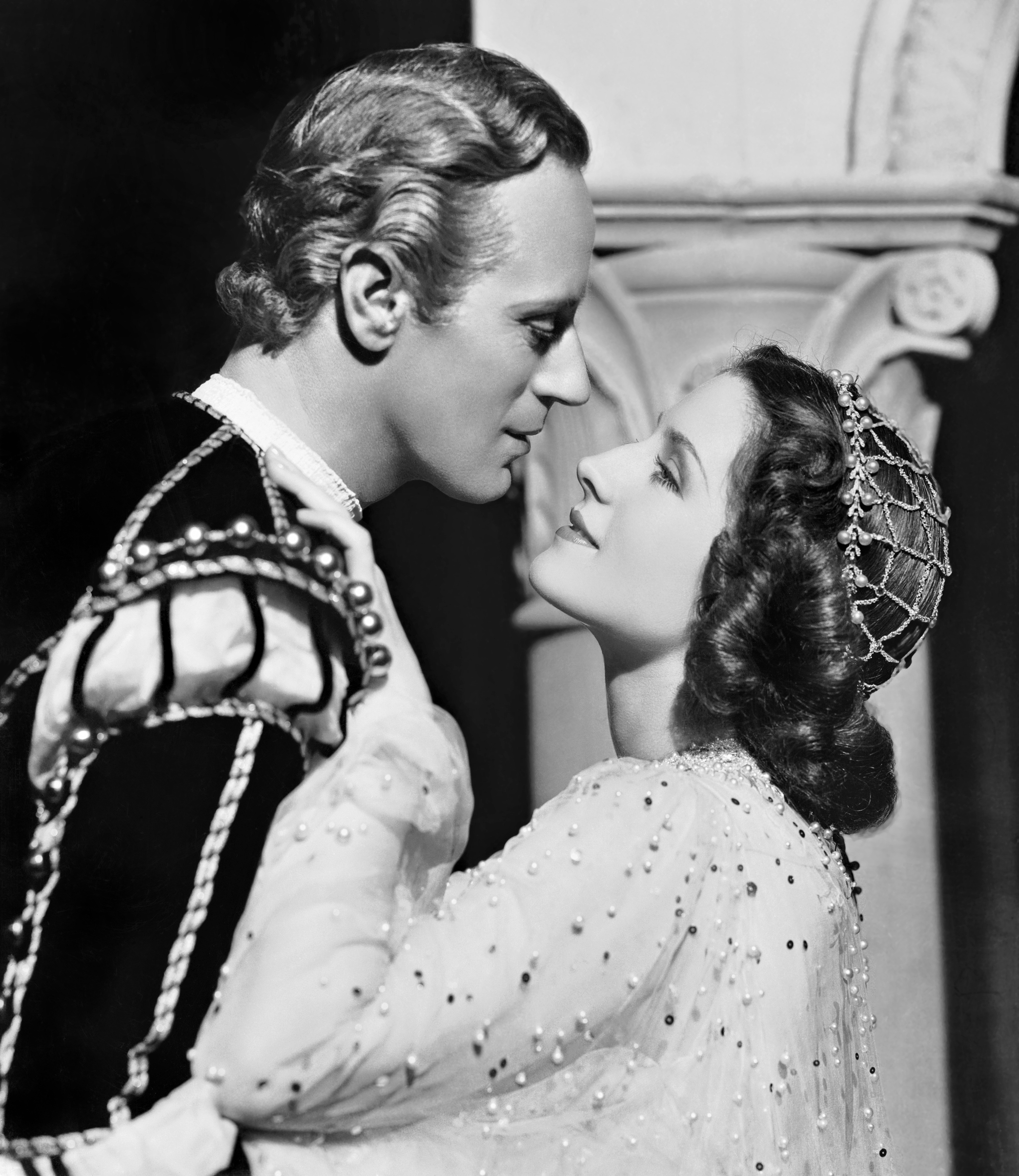 Norma Shearer With Leslie Howard.
