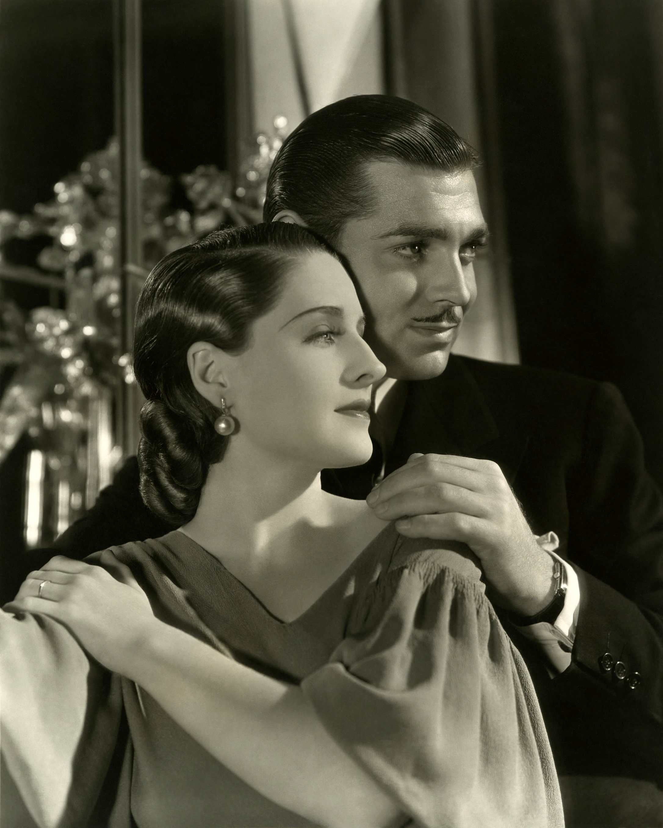 Norma Shearer With Clark Gable.
