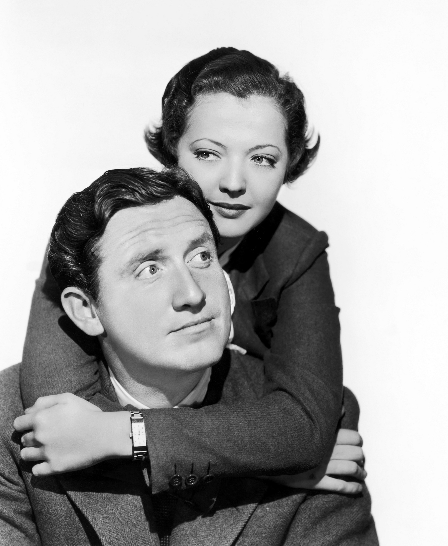 Sylvia Sidney With Spencer Tracy.