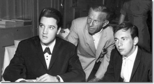 Elvis Presley, George Burns and Bobby Darin