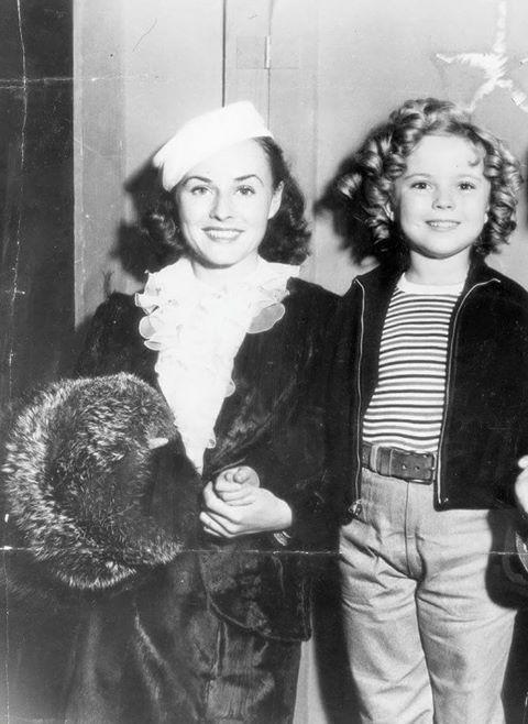 Paulette Goddard & Shirley Temple -1936