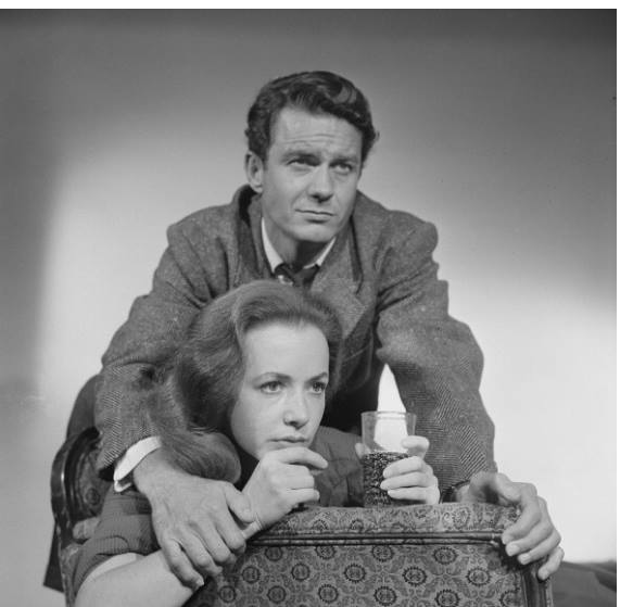 Piper Laurie and Cliff Robertson in 'The Days of Wine and Roses' on Playhouse 90 September 2, 1958.