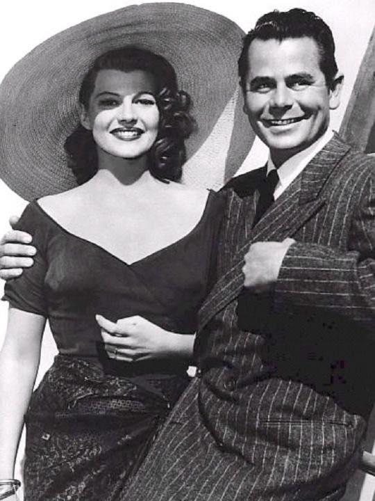 Rita Hayworth and Glenn Ford