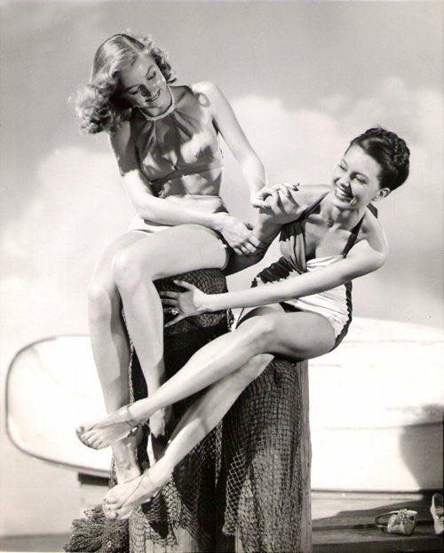 Gloria Grahame and Cyd Charisse