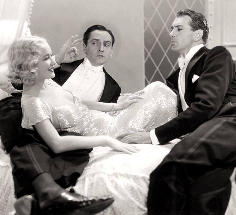 FREDRIC MARCH, MIRIAM HOPKINS & GARY COOPER