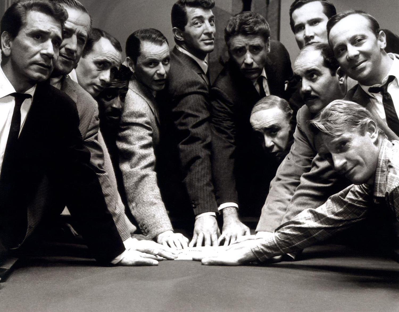 Frank Sinatra With Richard Conte,Joey Bishop,Sammy Davis, Jr. Peter Lawford,Dean Martin,Henry Silva and Norman Fell.