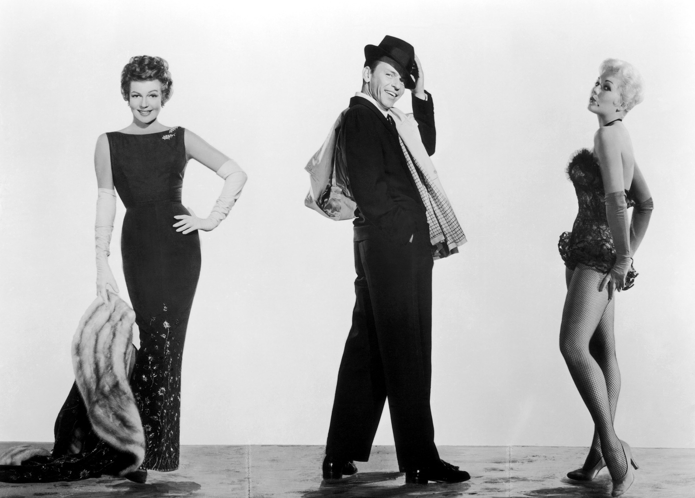 L to R) Rita Hayworth, Frank Sinatra, Kim Novak