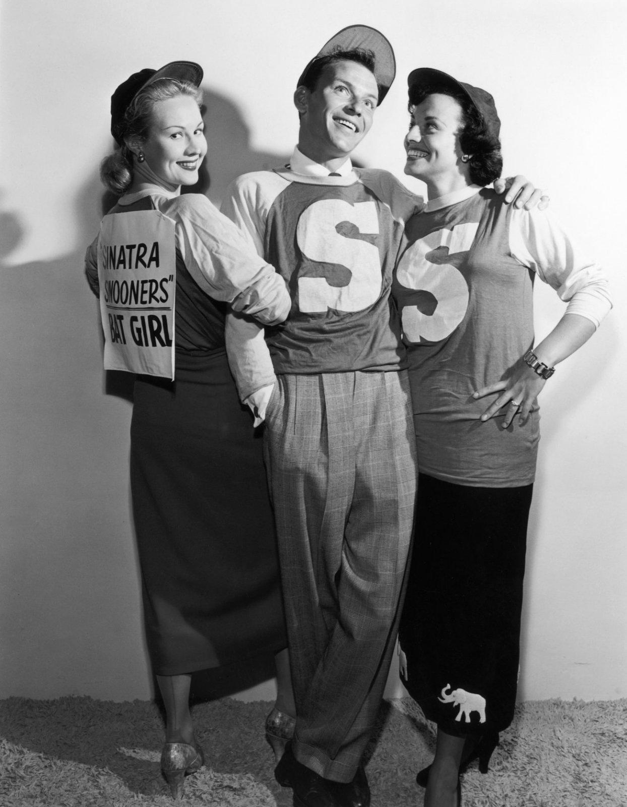 (L to R) Virginia Mayo,  Frank Sinatra, Kay Starr