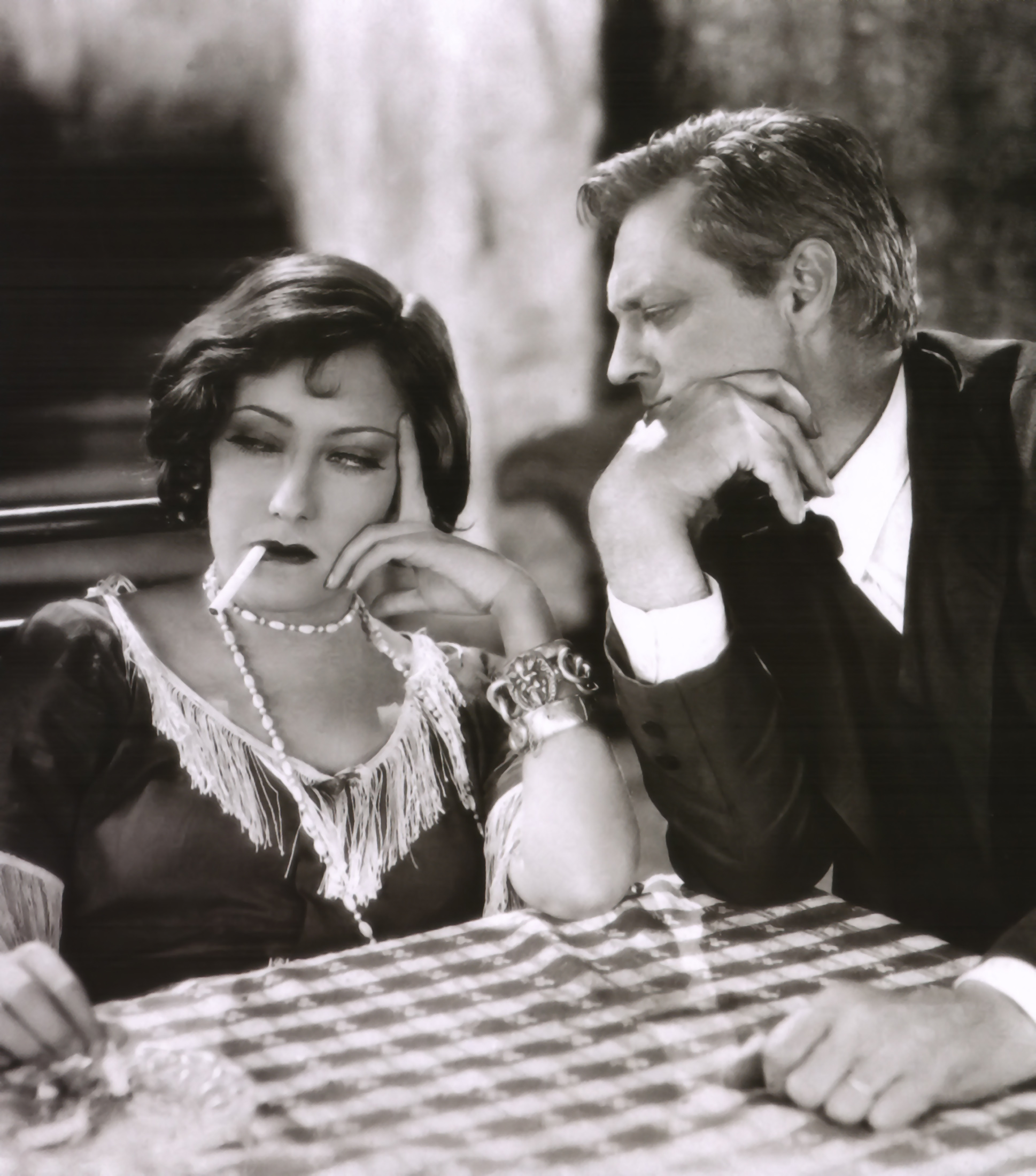 Gloria Swanson With Lionel Barrymore.