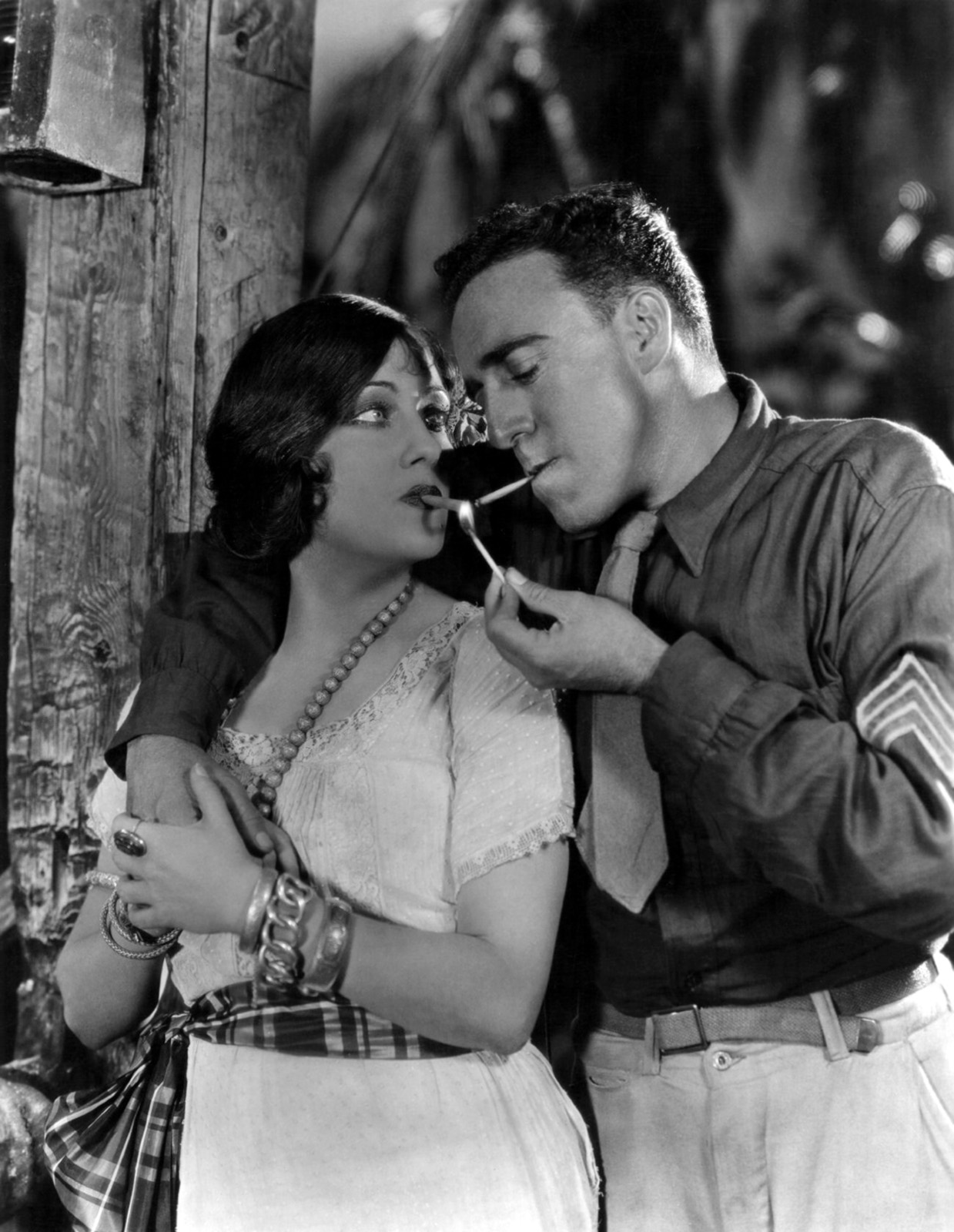 Gloria Swanson With Raoul Walsh.