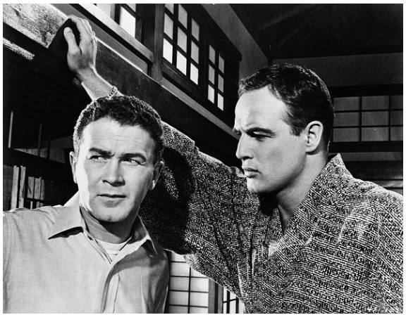 Red Buttons and Marlon Brando in the 1957 film