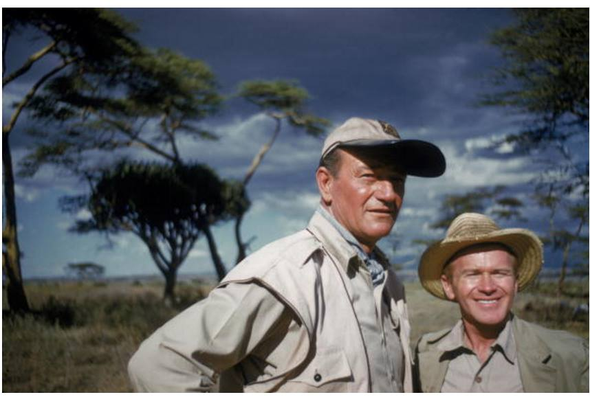 John Wayne and Red Buttons