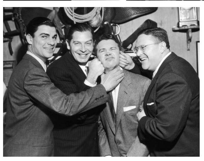 Bert Parks, Milton Berle, Red Buttons and Sam Levinson
