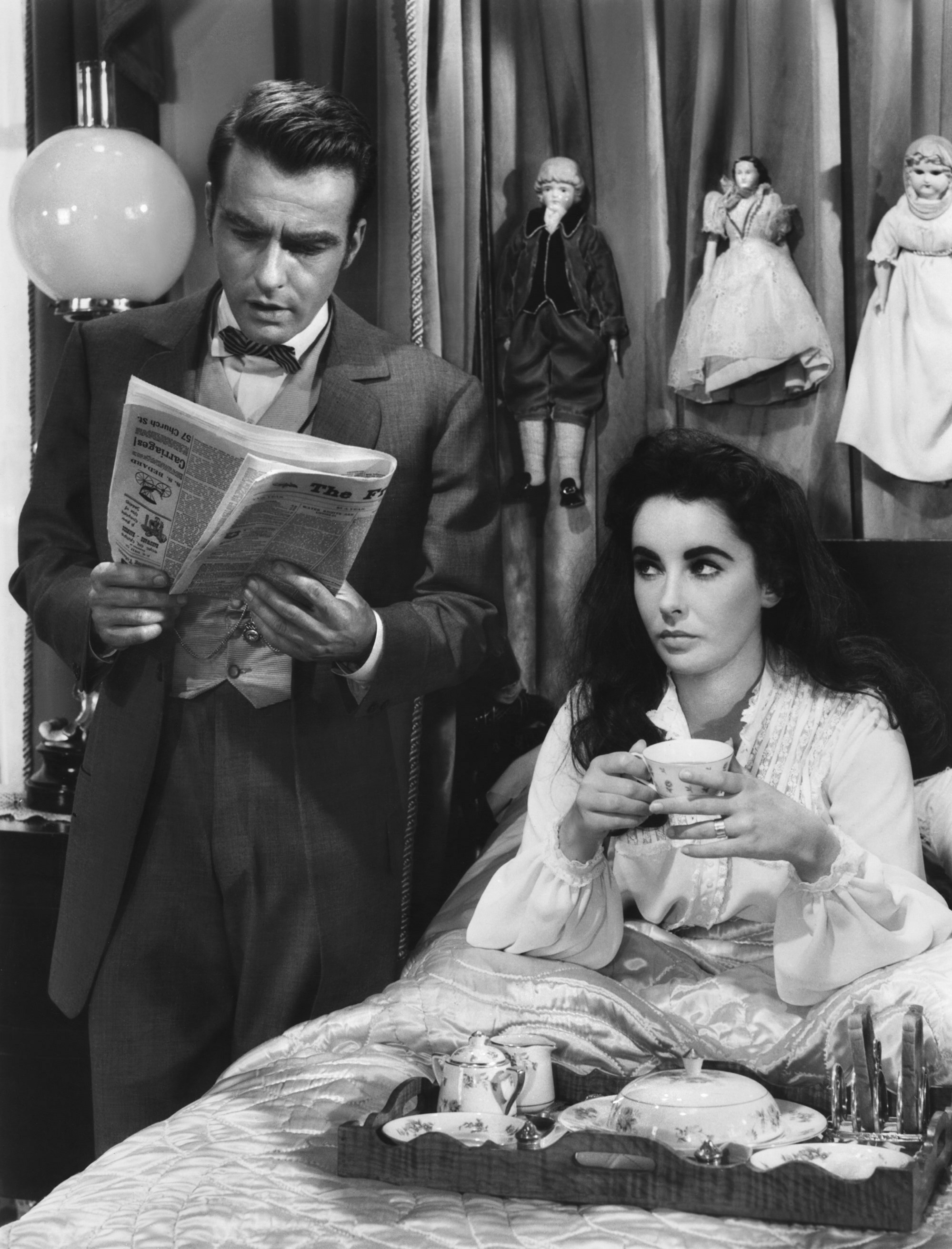 Elizabeth Taylor With Montgomery Clift.