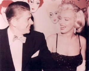 Ronald Reagan and Marilyn Monroe