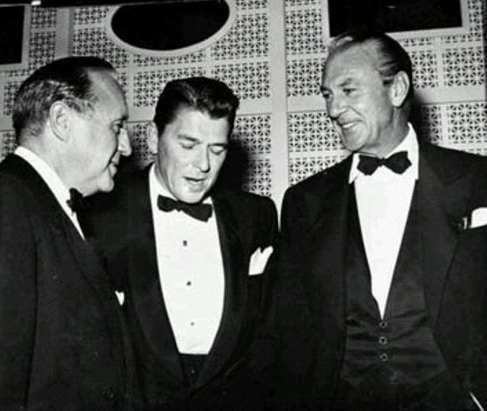 Jack Benny, Ronald Reagan and Gary Cooper