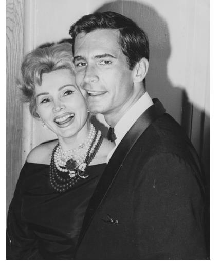 Zsa Zsa Gabor and Anthony Perkins