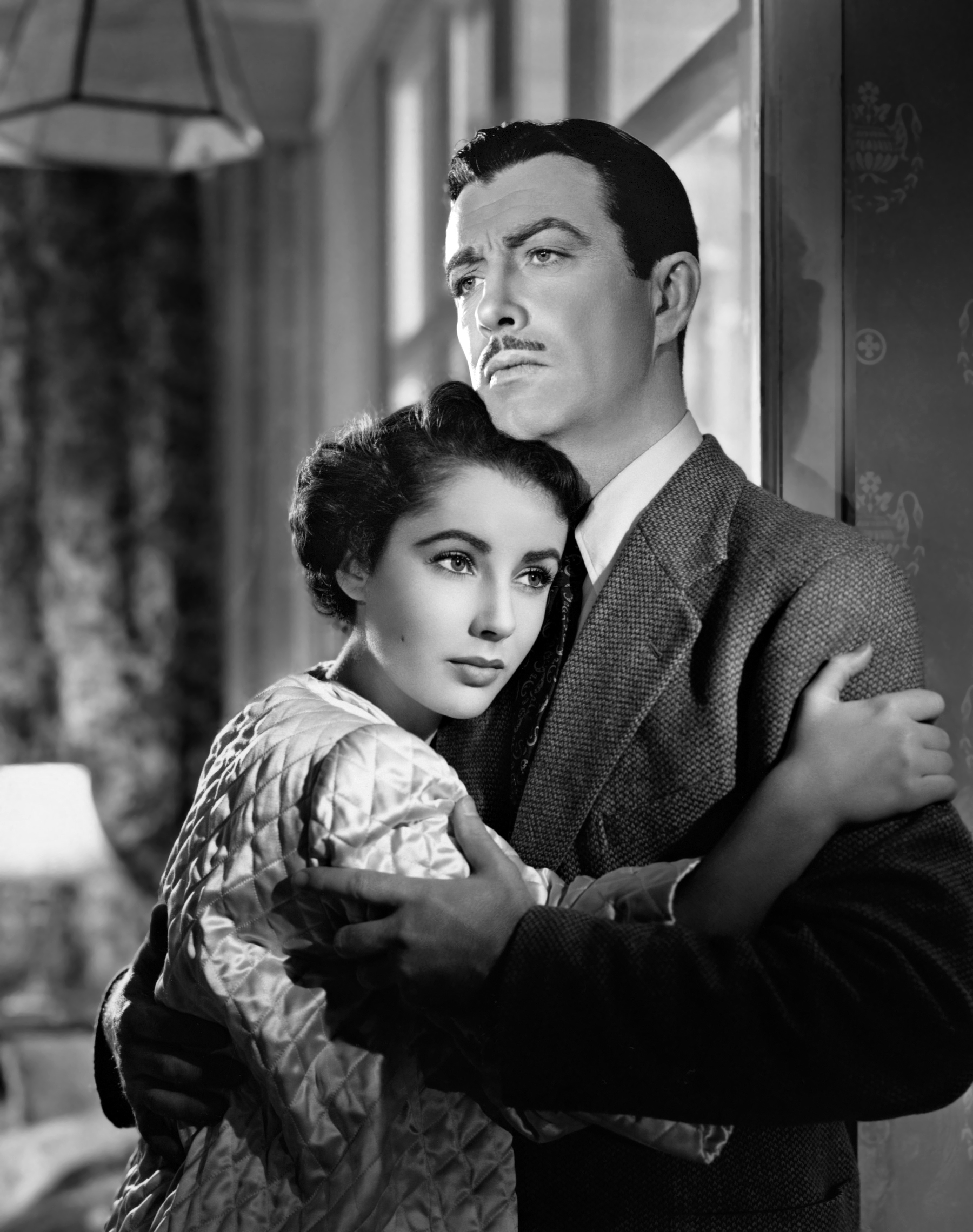 Robert Taylor With Elizabeth Taylor.