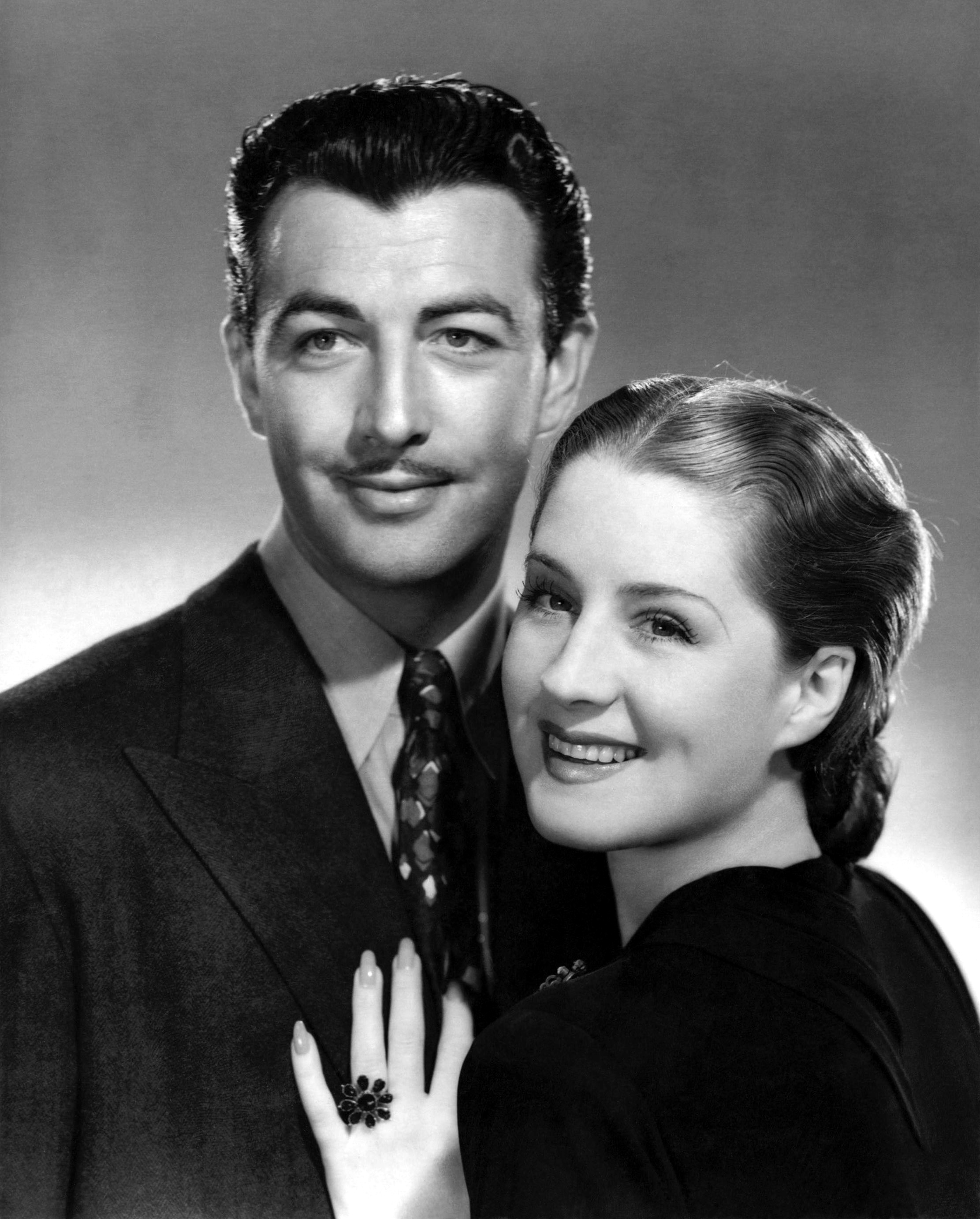 Robert Taylor With  Norma Shearer.