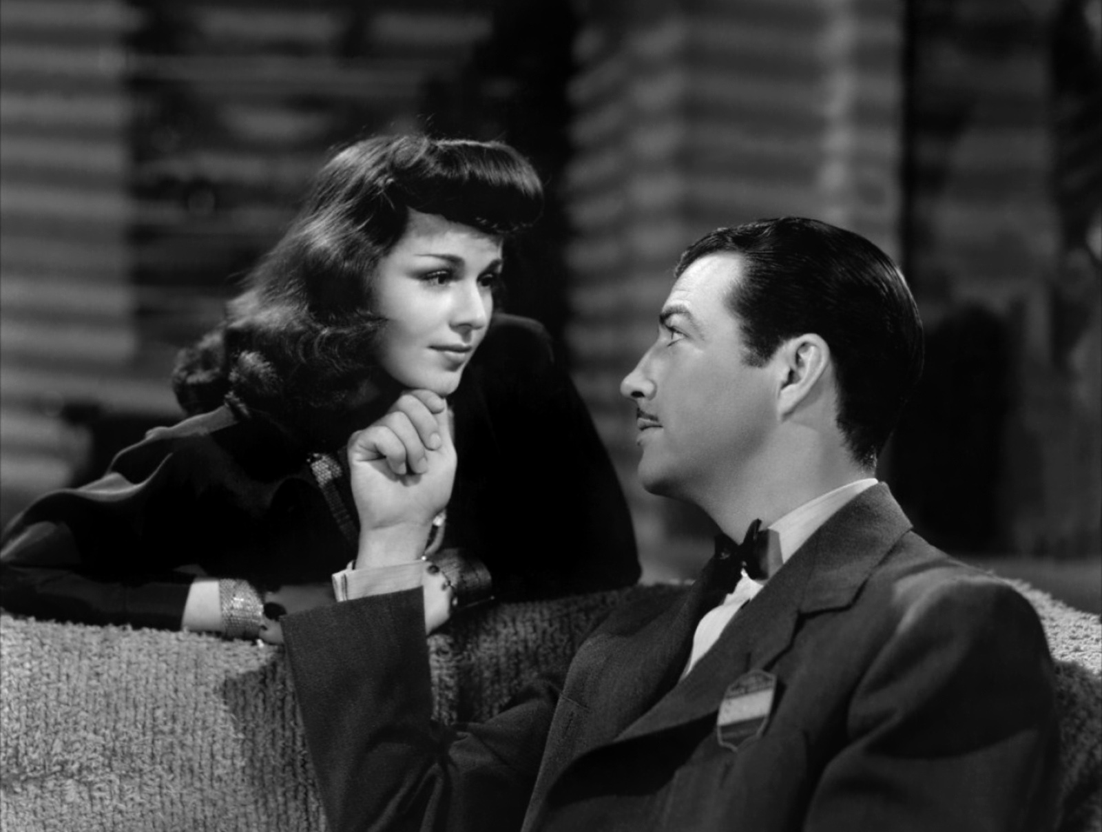 Robert Taylor with Patricia Dane.