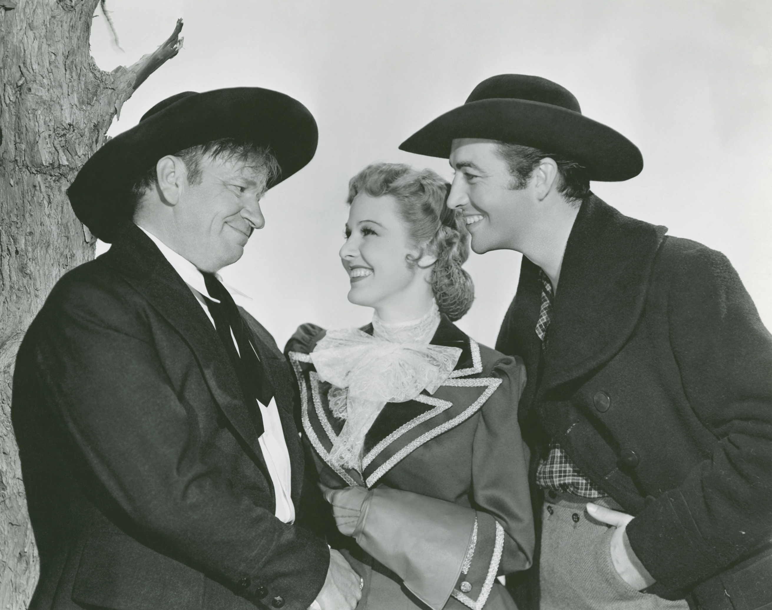 (L to R)  Wallace Beery, Florence Rice, Robert Taylor.