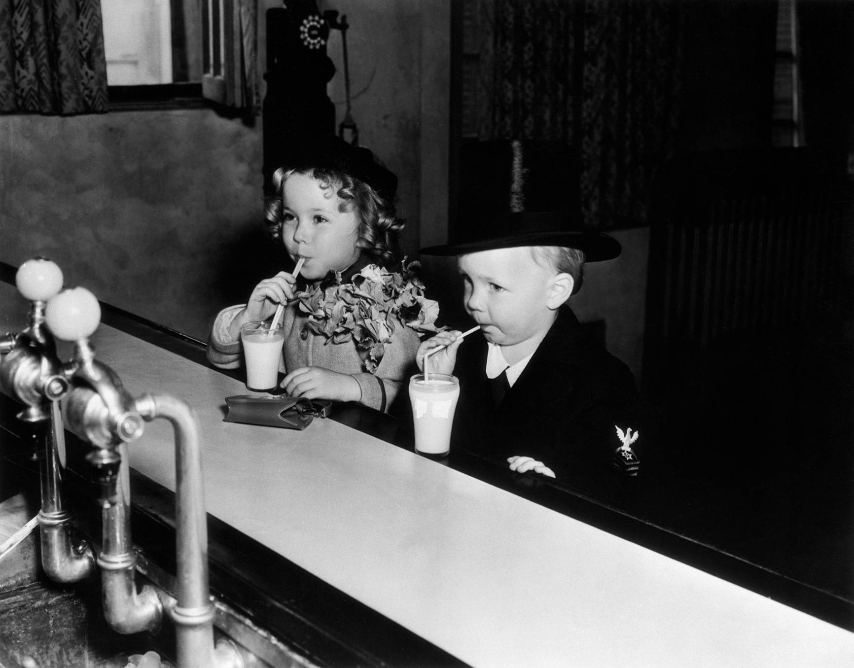 Shirley Temple With Baby Le Roy.