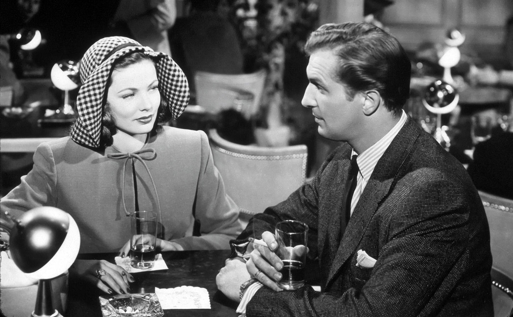 Gene Tierney With Vincent Price.