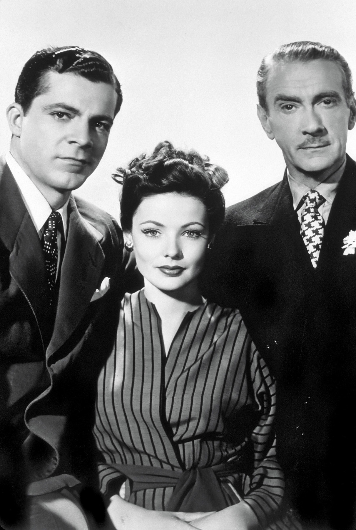 (L to R) Dana Andrews, Gene Tierney, Clifton Webb