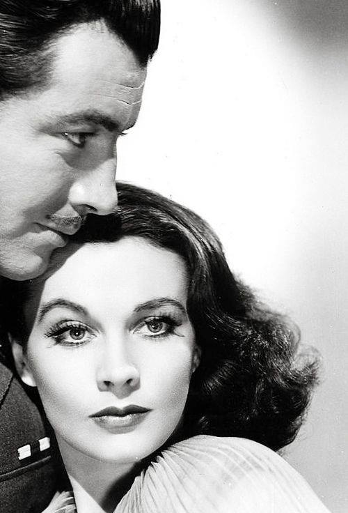 Robert Taylor and Vivien Leigh